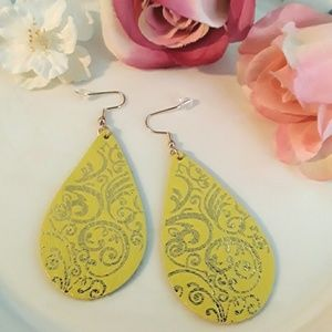 NEW Genuine Leather Droplet Earrings
